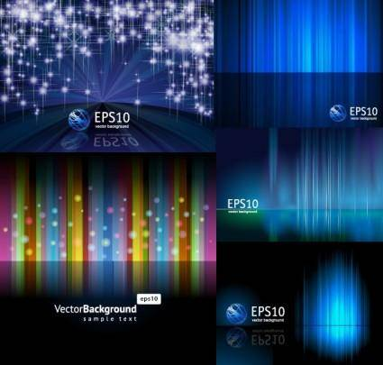 free vector 5 beautiful light vector background