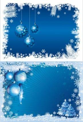 free vector Blue christmas background 03 vector