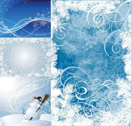 free vector Winter vector background