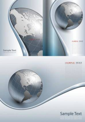 Earth theme business background vector