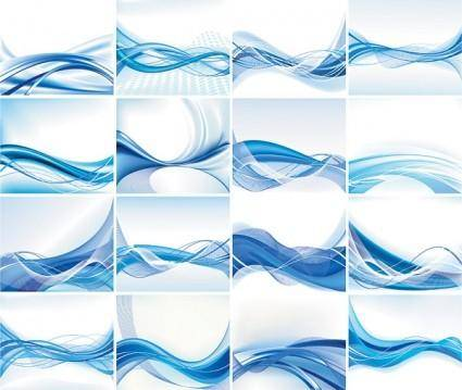 free vector Dynamic lines of the blue background vector