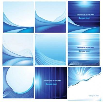 Elegant blue card background vector