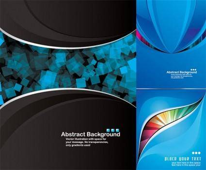 free vector Dynamic blue background vector