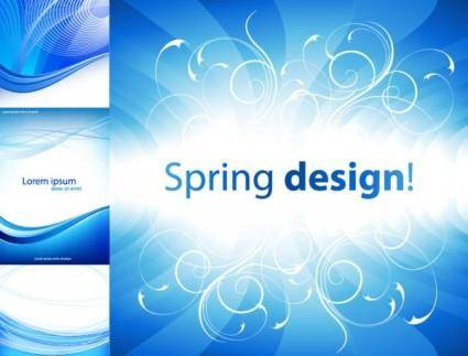 free vector 4 practical blue background vector