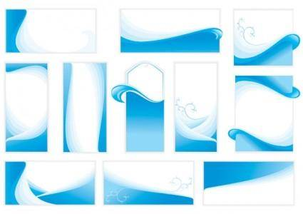 free vector Wavy line card background vector