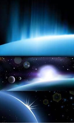 free vector 3glare background vector space