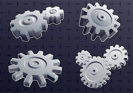 free vector Cool 3d gear element vector background