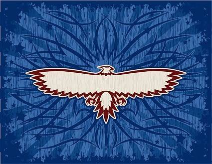 free vector Eagle totem and beautiful vector background