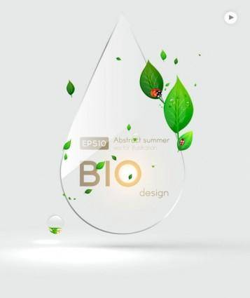 Label background glass texture 05 vector