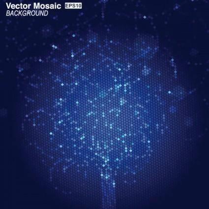 Dynamic mosaic star background 02 vector