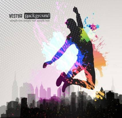 Fashion color splash background 04 vector