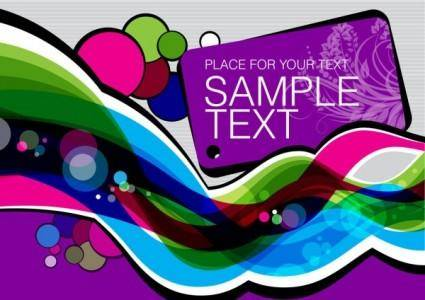 Colorful illustration background 05 vector