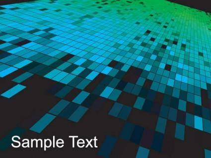 Mosaic background vector 3