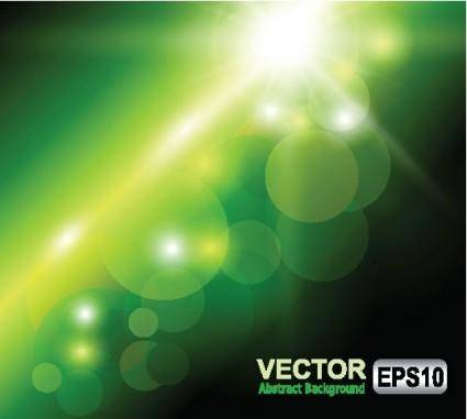 Green halo background 03 vector