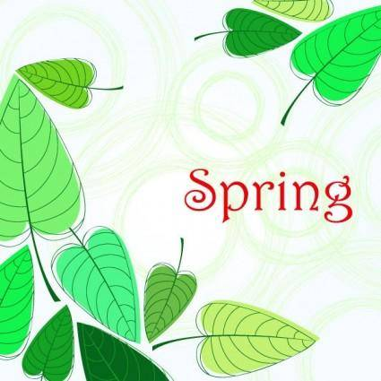 free vector Spring vector background 4