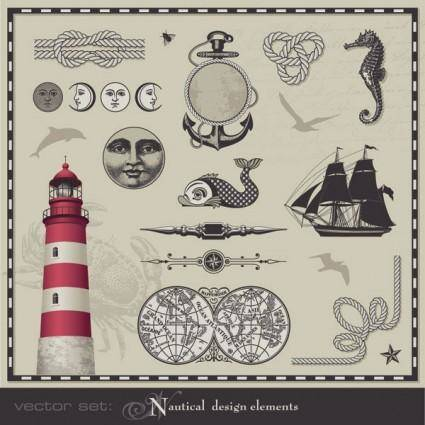 free vector Nautical theme graphics vector 2