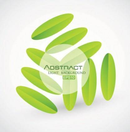 free vector Creative green background pattern 01 vector