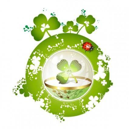 free vector Clover beautiful background 05 vector
