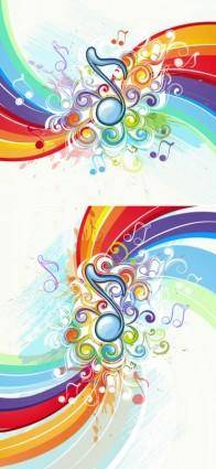 Beautiful music pattern background 02 vector
