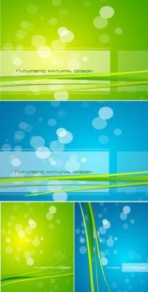 Bluegreen glare background vector