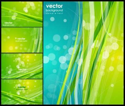 Fresh green vector background dream