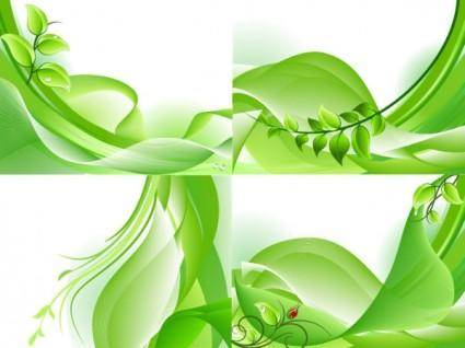 free vector Green background vector