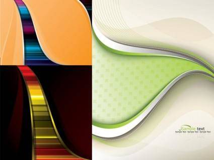 free vector 3 lines of beautiful vector background