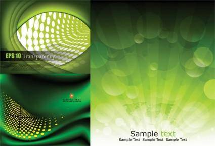 free vector 3 green background vector