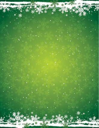 free vector Green snowflake background vector