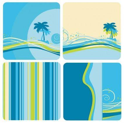 free vector Bluegreen color background vector