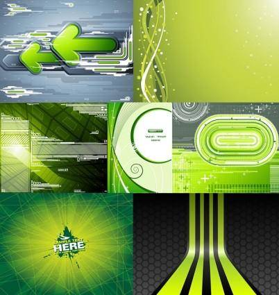 7 green background vector