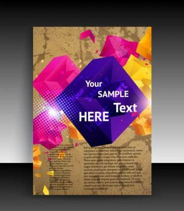 Cover background beautiful flyers 01 vector