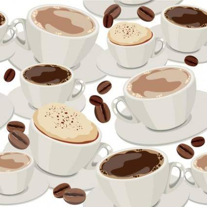 free vector Cartoon beverage background 03 vector