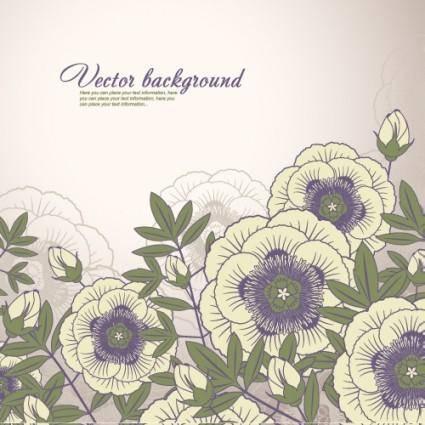 Elegant floral background 04 vector