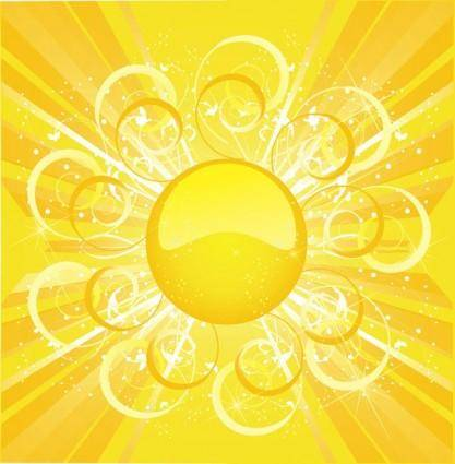 Sun sun background vector 3