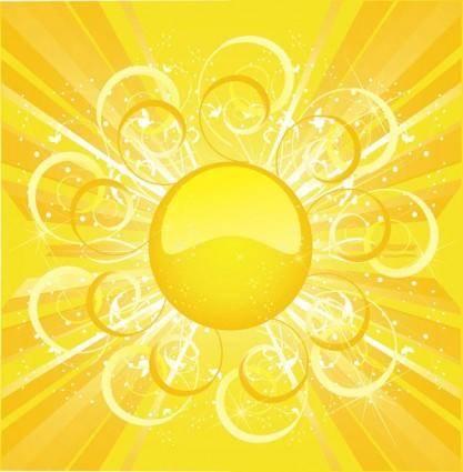 free vector Sun sun background vector 3