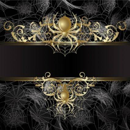 free vector Spider background 02 vector