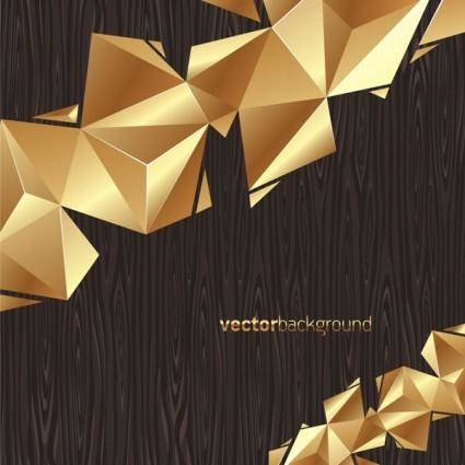 free vector Gold color background vector board
