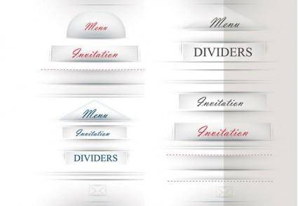 Title decorative vector
