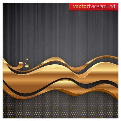 Golden dynamic lines of the background vector