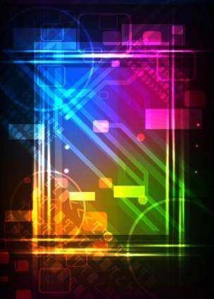 Special flashy neon light background 04 vector