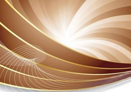 free vector Brown dynamic lines of the background vector 3