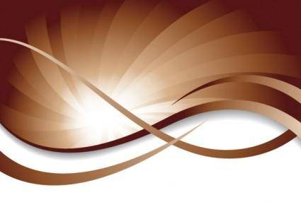 free vector Brown dynamic lines of the background vector 4