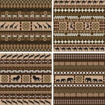 free vector African traditional background pattern 01 vector
