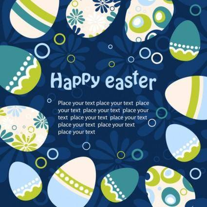 Easter egg illustration background 02 vector