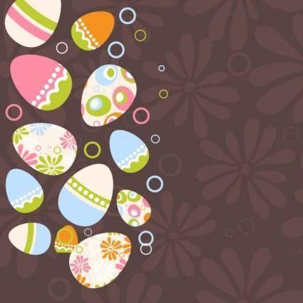 free vector Easter egg illustration background 04 vector