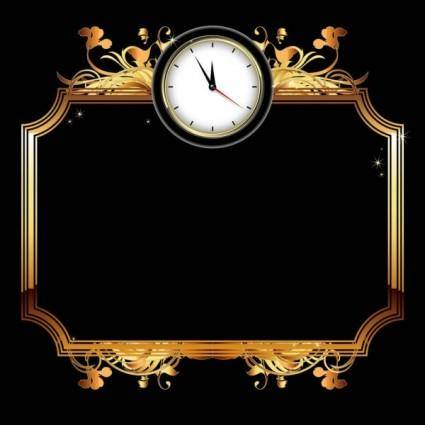 Exquisite watches creative background 03 vector