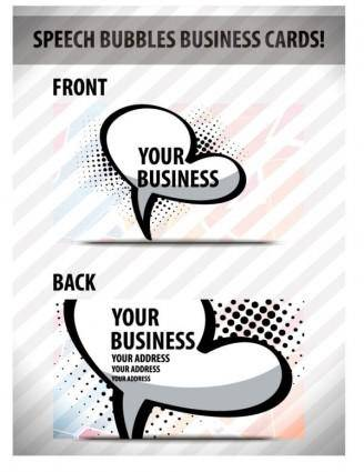 Speech bubble cards 01 vector