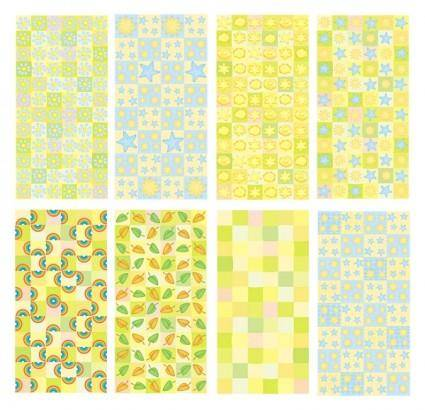 free vector Lemon yellow background vector cute cartoon