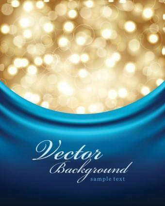 free vector Blue cloth background vector dream